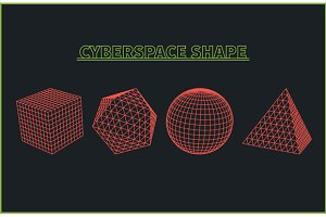 Cyberspace Grid Landscape Background