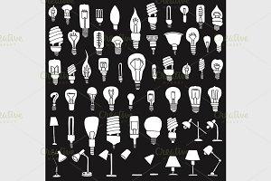 Set of Bulb Doodle.