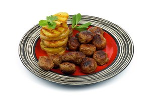 Roasted Meatballs and Potato