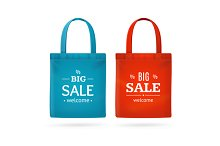 Color Sale Bag Labels Set. Vector