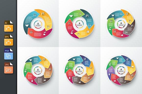 Infographics template set v.26 - Presentations