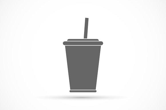 Soda with straw icon