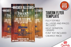 TAVERN FLYER TEMPLATE (PSD TEMPLATE)