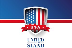 USA flag - United we stand