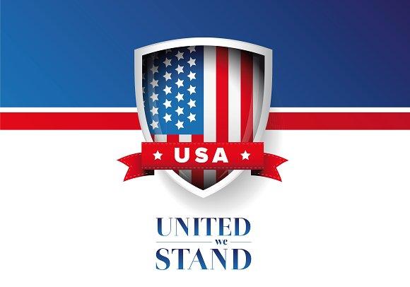 USA flag - United we stand