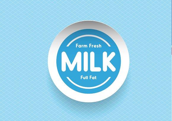 Farm fresh Milk label