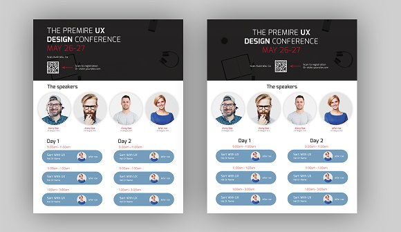 EventConference Flyer Template Flyer Templates Creative Market – Conference Flyer Template