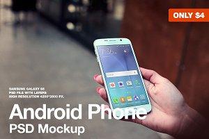 Samsung Galaxy S6 PSD Mockup
