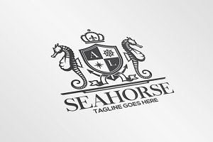 Sea Horse Crest Logo