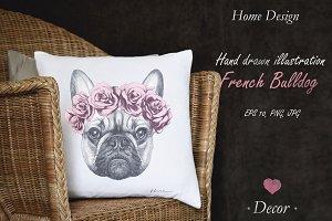 French Buldog / Decor