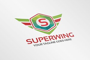 Super Wing – Logo Template