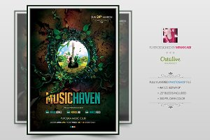 Music Haven Flyer | Poster