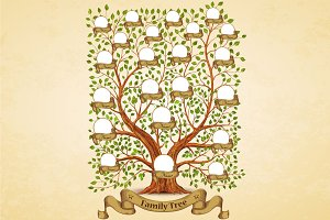 Family Tree template vintage