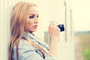 sexy girl photographer
