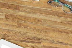 Styled wooden desktop
