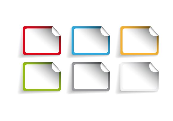 Vector label or sticker set