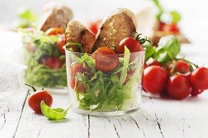 Vegan healthy salad with tomato