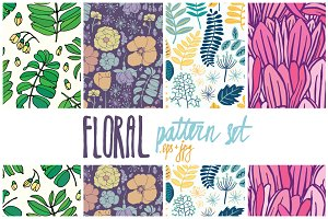 23 floral patterns set
