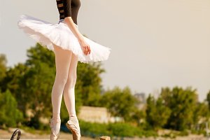Ballerina in tutu dancing