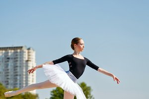 Arabesque. Ballet dancer