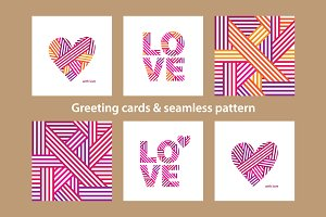 Greeting cards & pattern