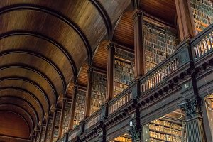 Trinity College Library Stock Photo