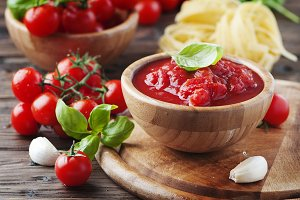 Italian traditional sauce with tomat