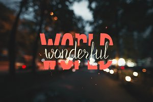 Wonderful world. Motivation poster