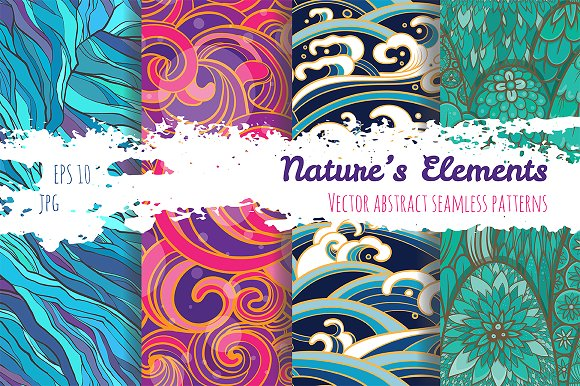 Set of patterns: Nature's elements