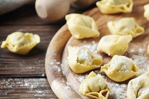 Italian traditional tortellini