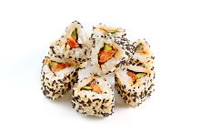 Roll with salmon, cucumber