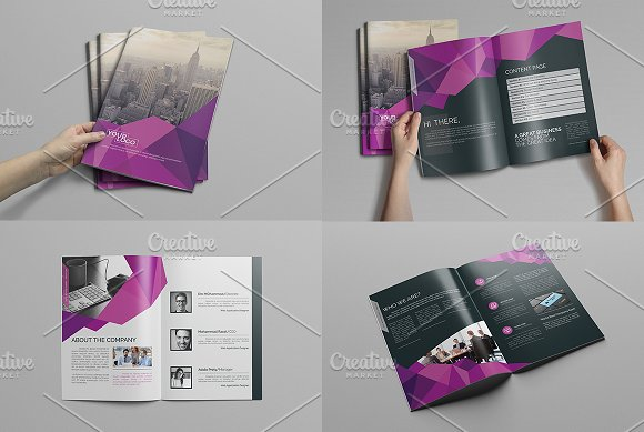 abstract bi fold brochure 16 pages brochure templates creative