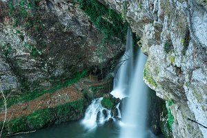 Below the Holy cave of Covadonga