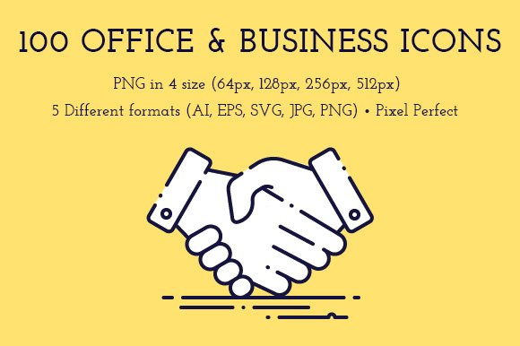100 Office & Business Line Icons