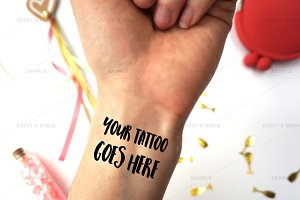 Temporary Tattoo Wrist Mockup