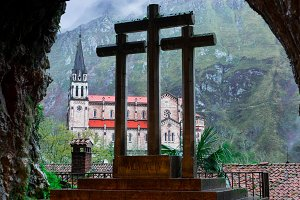 From the Holy cave of Covadonga