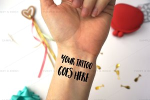 Temporary Tattoo Mockup