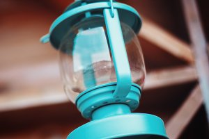 Old-fashioned blue lantern
