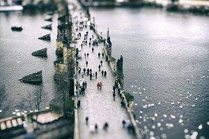 Prague - Charles bridge aerial