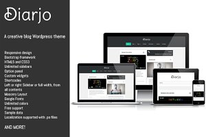 Diarjo - creative Wordpress theme