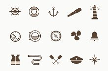 15 Nautical and Boat Icons
