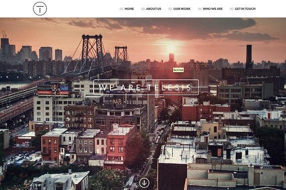 Telesis - One Page WordPress Theme