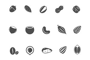 15 Nut and Seed Icons