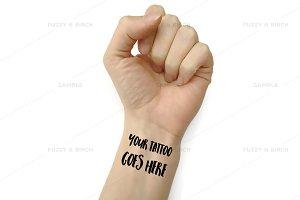 Wrist Tattoo Styled Mockup