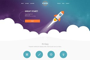 Landing page PSD tamplate