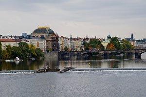 Scenic view on bridge over river