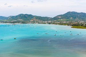 High angle view sea in Phuket island
