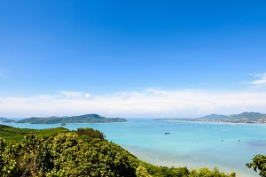High angle view sea in Phuket island