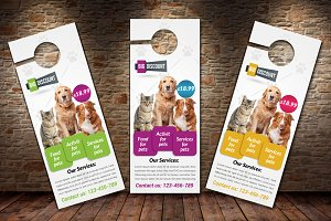 Pet Shop Business Door Hanger
