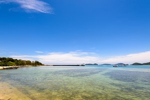 Sea and beach of Laem Panwa Cape